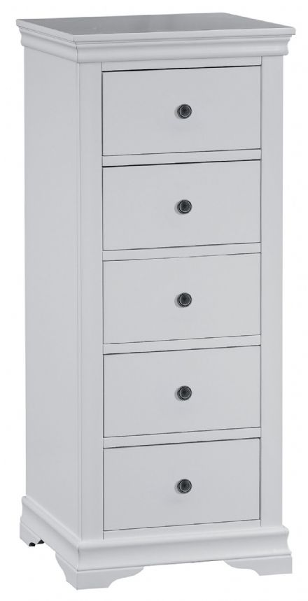 Stratford Grey Painted 5 Drawer Wellington